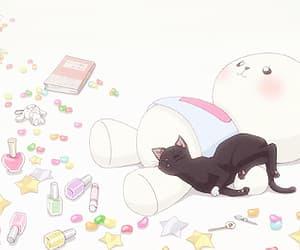 ao haru ride, anime, and cat image