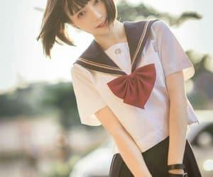 beauty, school uniform, and japan style image