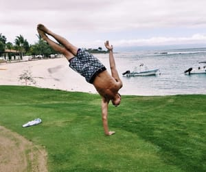 handstand, sexy, and shirtless image