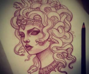 medusa, Tattoos, and dope drawing image