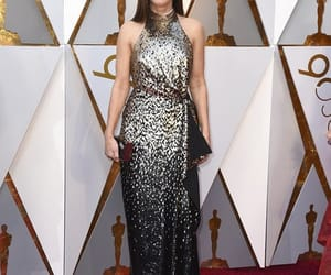 actress, red carpet, and silver dress image