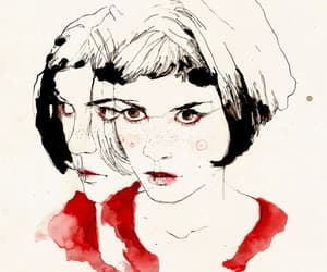amelie, red, and vintage image