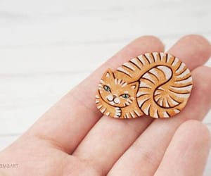 brooch, jewelry, and kitty cat image