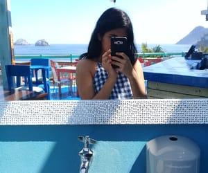 blue, playa, and restaurant image