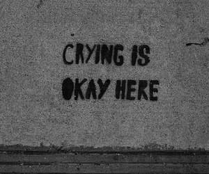 sad, crying, and quotes image