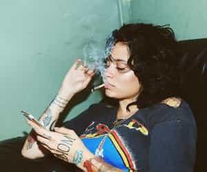 kehlani, smoke, and tattoo image