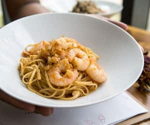 dinner, lunch, and prawns image