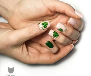 design, green, and nail art image