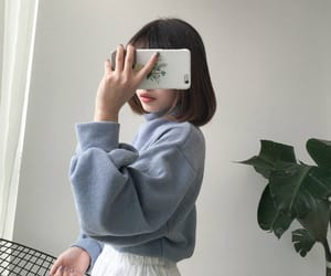 ulzzang, aesthetic, and blue image