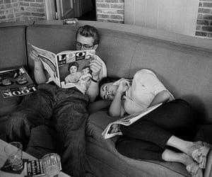 james dean, Elizabeth Taylor, and black and white image