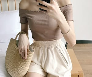 asian fashion, korean girl, and outfit image