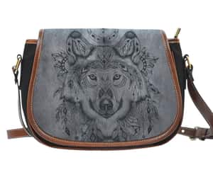 bag, purse, and wolf image