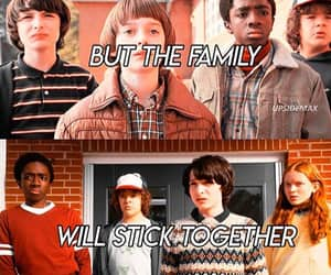 family, stranger things, and friends image