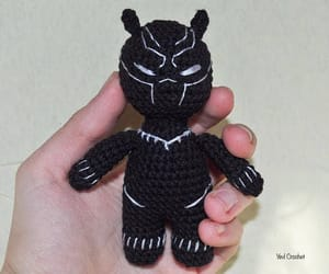 action figure, amigurumi, and black panther image