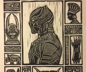 black panther, Marvel, and wakanda image