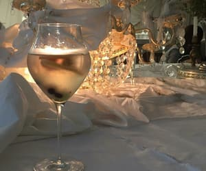 dinner, fancy, and wine image