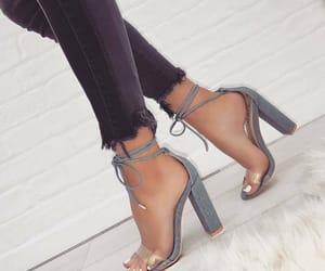 gray, nails, and heels image