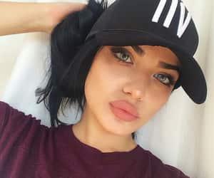 black hair, blue eyes, and girl image