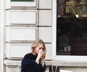 bar, coffee, and blonde image