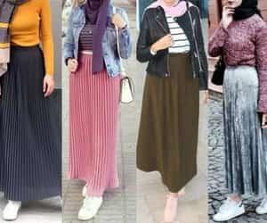 dress, hijab, and pink image