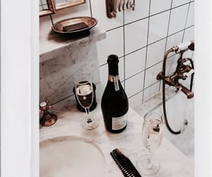 champagne, gold, and bathroom image