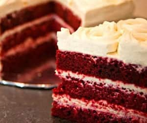 cakes, cream cheese, and Red velvet cake image