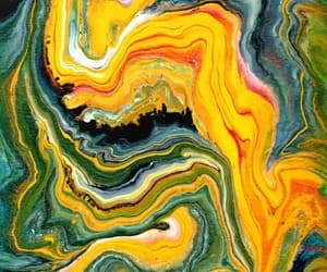 abstract art, green, and paint image