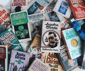 agatha christie, books, and hercule poirot image