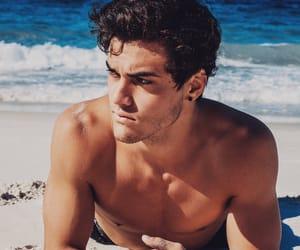 ethan dolan, dolan twins, and beach image