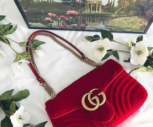red, bag, and gucci image