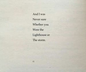lighthouse, quotes, and storm image