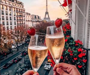paris, drink, and couple image