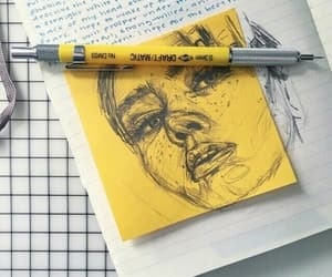 aesthetic, pencil, and yellow image