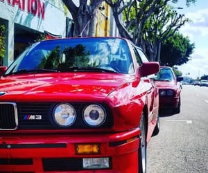 red, vintage, and bmw m3 image