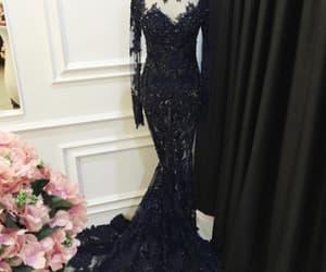 black, dress, and prom dress image