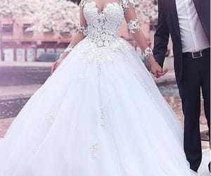 Long Sleeves Wedding Dress With Sheer Lace Bodice  on Luulla