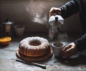 cake, chocolate, and tea image
