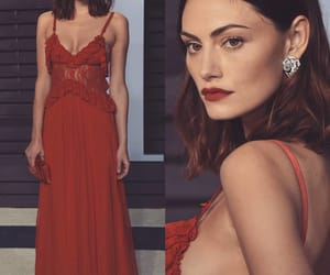 glam, red dress, and phoebe tonkin image