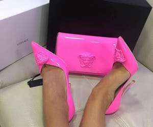 Versace, luxury, and pink image
