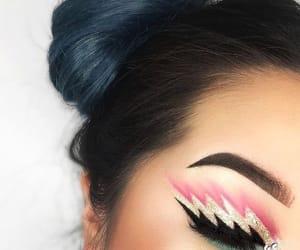 design, eyeshadow, and makeup art image