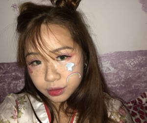 asian girls, kawaii, and stickers image