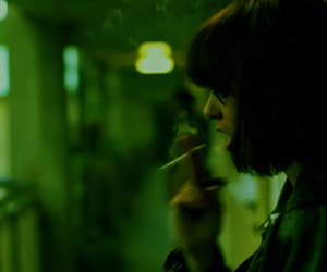 green, grunge, and smoke image