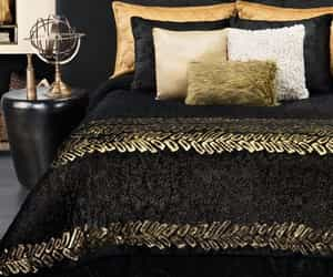 bedroom, black, and style image