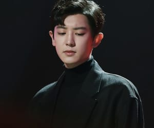 black, chanyeol, and dark image