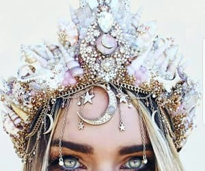eyes, beauty, and crown image