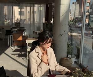 asian fashion, coffee, and asian girl image