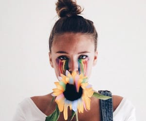 bun, colors, and flower image