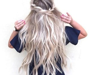 blonde, ombre, and blue image