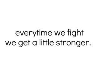quote, fight, and life image