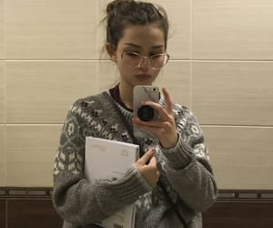 book, glasses, and selfie image